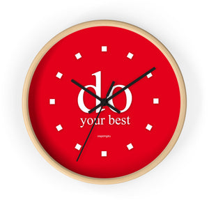 "Red Wall Clock ""do your best"""