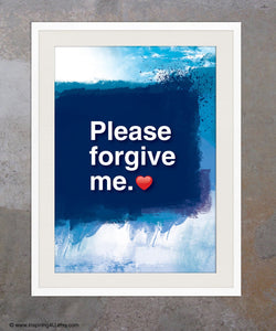 A3. Ho'oponopono healing Sentence. Mantra meditation quote poster. Typography poster. Wall decor. Home decor. Please forgive me.(Po-A3-063)