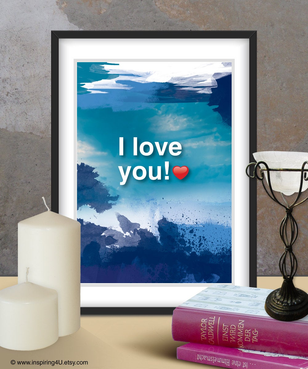 A3. I LOVE YOU poster. Ho'oponopono healing Sentence poster. Mantra meditation quote. Typography poster. Wall decor. Home decor (Po-A3-061)