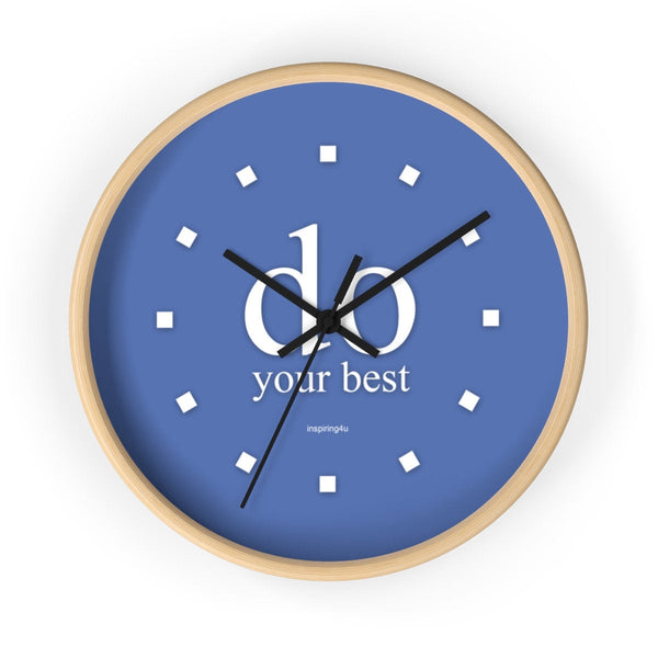 "Purple wall clock ""do your best"". Special gift for her. Office wall decor clock with motivational quote."