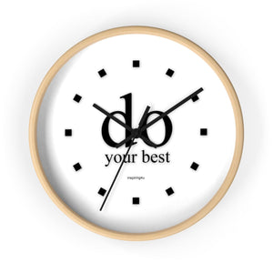 "White Wall Clock. Special gift for him. Office wall decor clock with motivational quote ""do your best""."