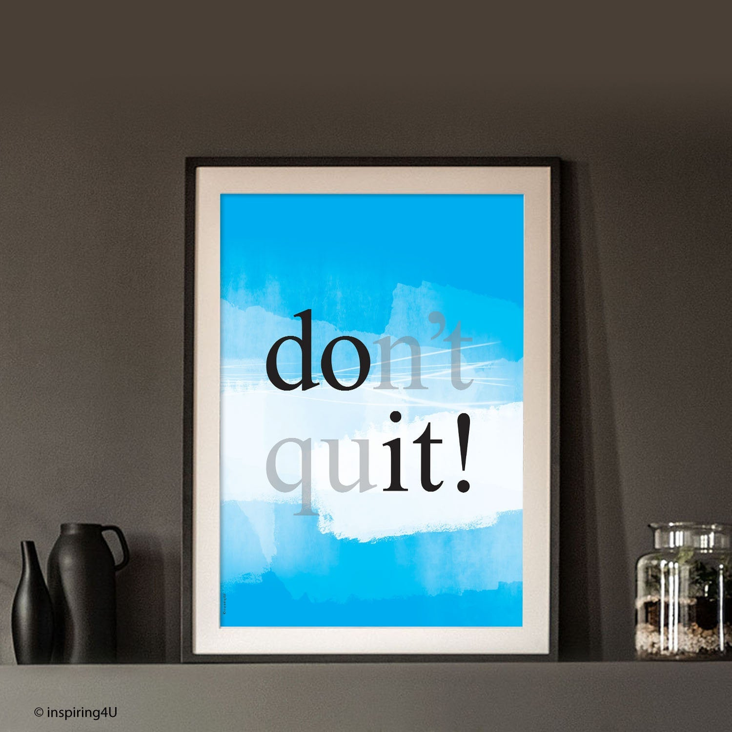 A4 Positive Thinking. Typography design. Inspirational Poster. Motivational Poster. Office Wall Decor Design. Graduation Gift (PO-007)