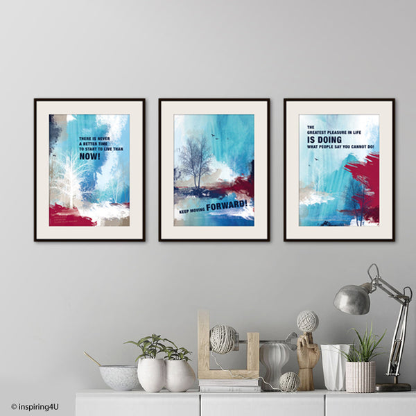 SET of 3 prints. Inspirational poster. Motivational poster with typography design for office wall decor. Graduation gift. Wall art (PO-027)