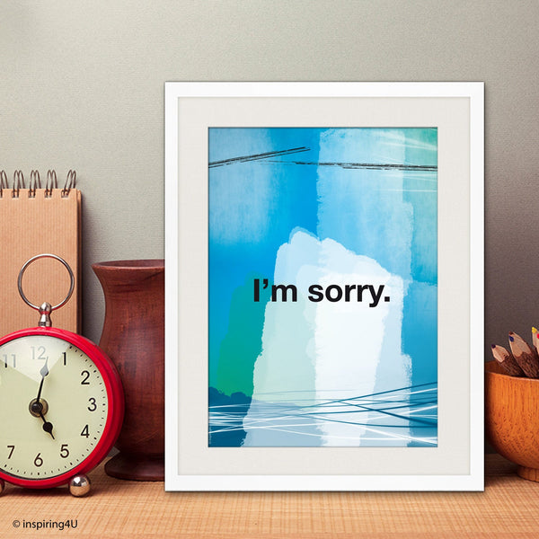 I'm sorry. Ho'oponopono healing Sentence. Mantra meditation quote poster. Typography poster. Wall decor. Home decor. Gift (Po-067)