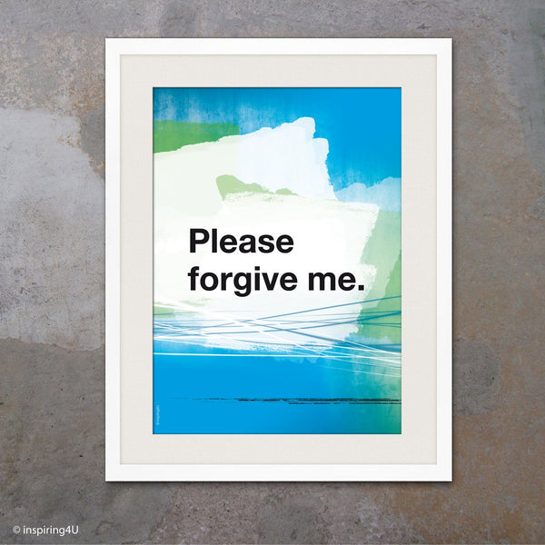 Please forgive me. Ho'oponopono healing Sentence. Mantra meditation quote poster. Typography poster. Home Wall decor. Gift (Po-066)