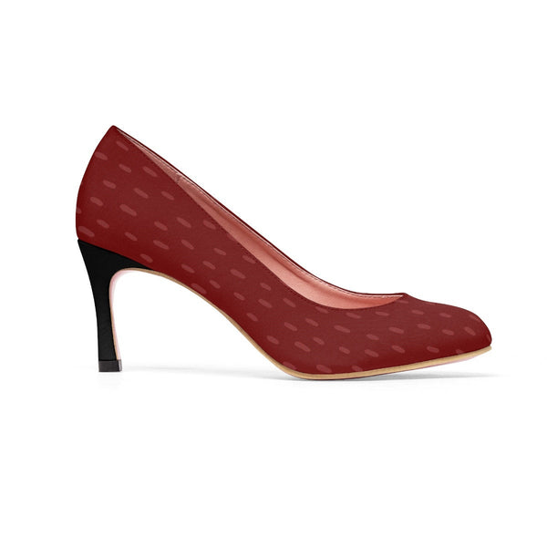 Maroon Women's Classic High Heels for Classic Look. Black Heels.