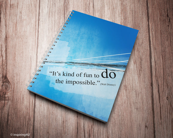 Student Spiral Notebook - Ruled Line with motivational quote. Special gift for her. Gift for him.