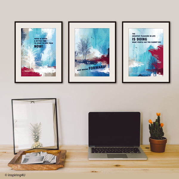 SET of 3 x A3 Inspirational poster. Motivational poster with typography design for office wall decor. Graduation gift. Wall art (PO-3A3-027)