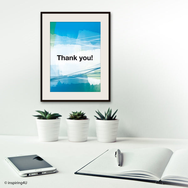 Thank you. Ho'oponopono healing Sentence. Mantra Sentence Wall decor. Meditation quote poster. Typography poster. Home decor. Gift (Po-068)