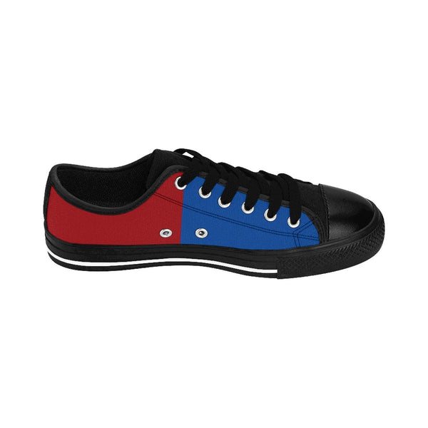 Women's Sneakers. US 4th of July. Red, white, and blue Canvas Sneakers.