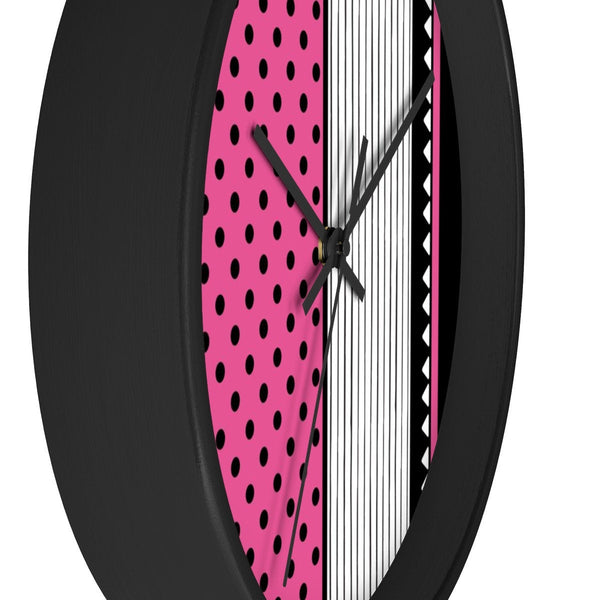 Pink Wall Clock. Colorful Clock Gift for Her. Office Wall Decor Clock.