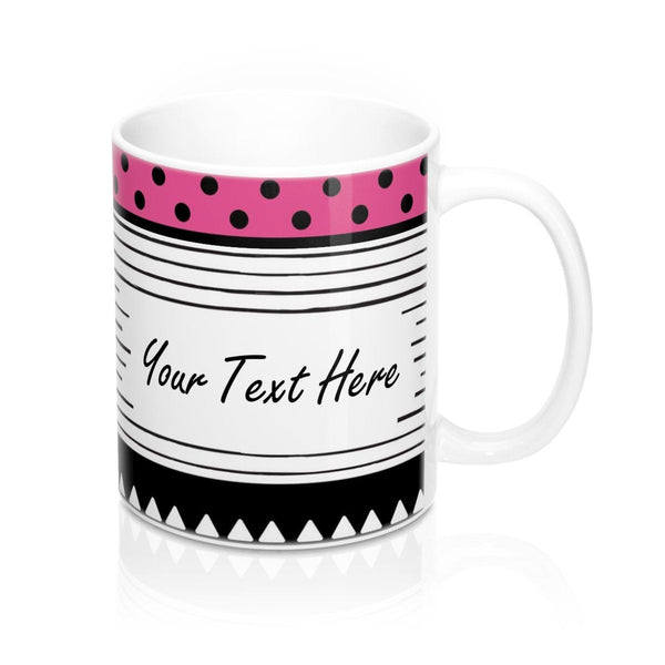 Custom mug, Black white, Personalized coffee mug, Create your own mug, Personalized mug, Design your own tea ceramic mug, Custom gift.