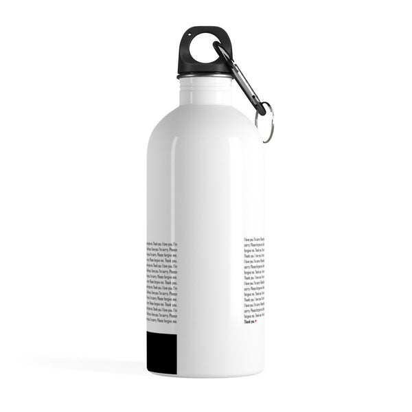 Ho'oponopono Environment Water Bottle, Stainless Steel Water Bottle, Water Bottle for Gym with Healing Sentences, Self-healing Mantra Quotes