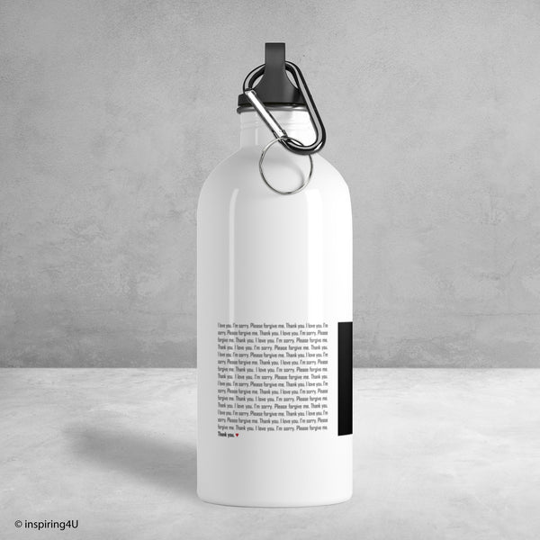 Stainless Steel Water Bottle, Ho'oponopono Environment Water Bottle, Water Bottle for Gym with Healing Sentences, Self-healing Mantra Quotes