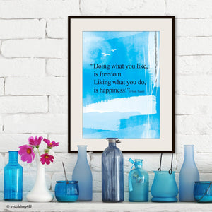 Positive thinking. Inspirational poster. Typography design. Inspirational poster. Office wall decor design. Graduation gift (PO-030)