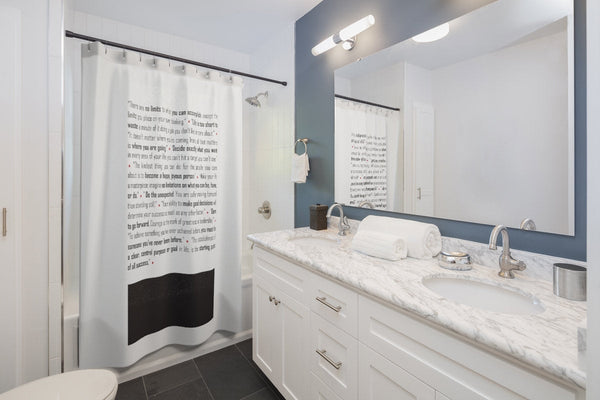 Shower Curtains, Ho'oponopono Mantra quotes, Bathroom Decor, Personalize your bathroom with Modern Graphic Style Bath Curtain. black white.