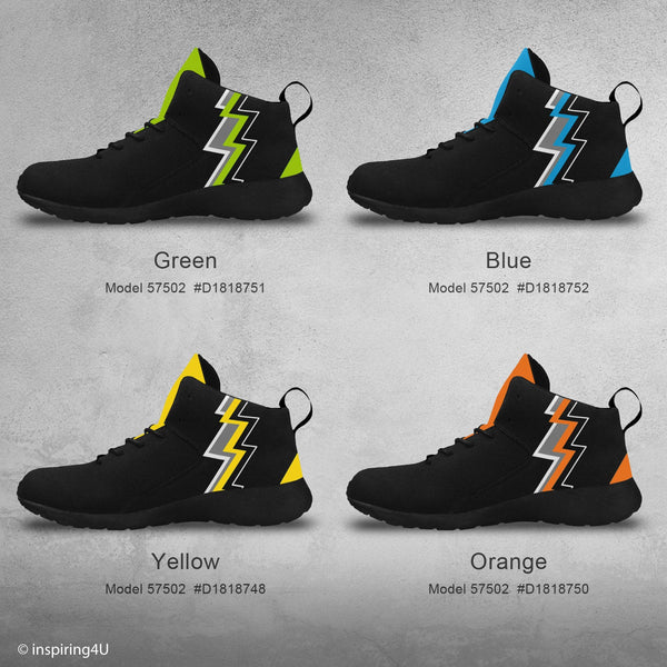 Men's High Top Fashion Basketball Shoes. Men's High Athletic Shoes. Young look and cool sport shoes. Men's Unique Shoes. (57502)