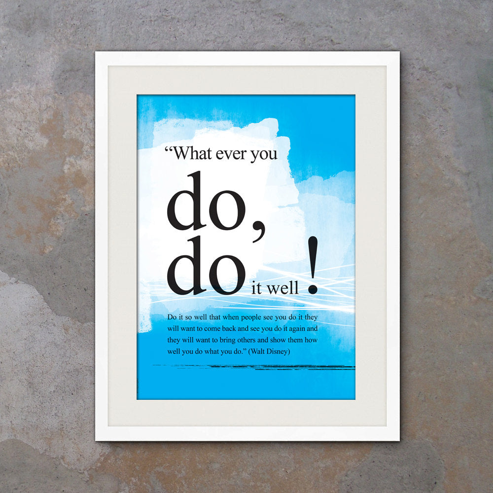 Walt Disney you can do it quote poster. Motivational poster. Positive thinking office wall decor. Typography design. Gift (PO-005)
