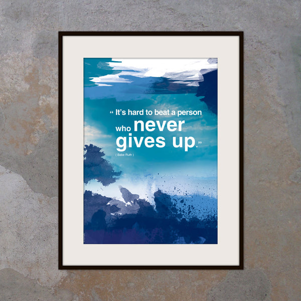 A3 Inspirational poster with positive thinking Inspiring quote. Modern art poster with Typography design. Inspiring words Office (PO-A3-010)