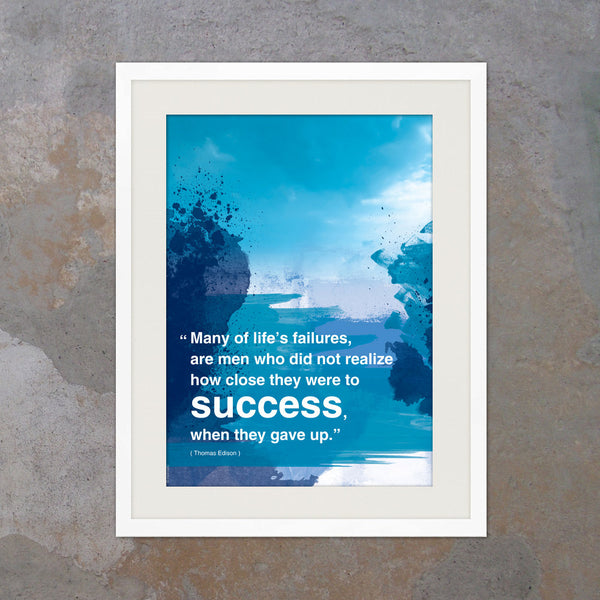 A3 Modern art motivational poster with Inspiring quote. Office wall decor. Inspiring quote graduation gift print poster (PO-A3-009)