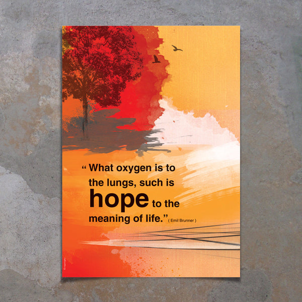 A3 Motivational poster with hope quote. Positive thinking for office wall decor or graduation gift. Inspiring quote poster. Gift (PO-A3-013)