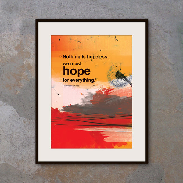 A3 Inspiring quote poster. Inspirational poster with hope quote. Positive thinking for office wall decor or graduation gift (PO-A3-014)