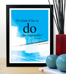 Walt Disney you can do it quote poster. Motivational poster. Office wall decor. Positive thinking. Graduation gift (PO-004)