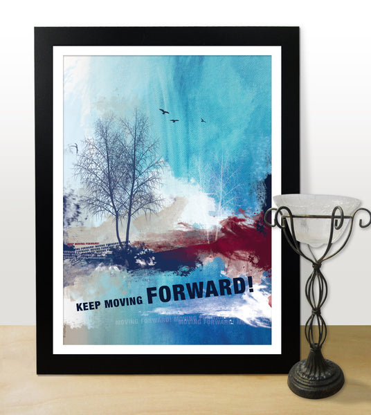Inspirational poster. Motivational poster with typography design for office wall decor. Graduation gift. Home decor art (Po-001)