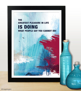 A3 Inspirational poster with Inspiring words. Art poster for office. Motivational poster. Office wall decor. Typography design (PO-A3-002)
