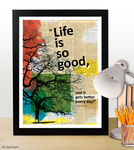 Motivational poster with positive thinking typography art design for office wall decor. Graduation gift. Happy quote. Modern (PO-023)