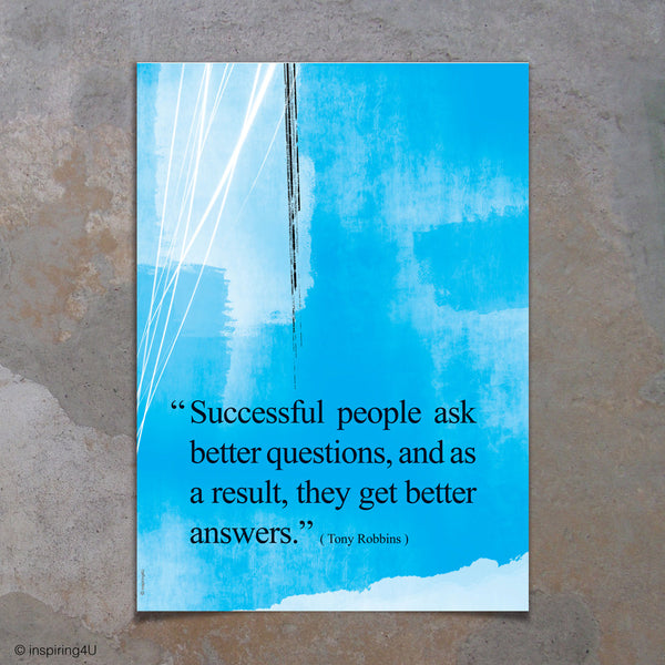 Successful people. Tony Robbins Inspirational poster. Positive thinking. Inspirational poster. Office wall decor design. Graduation gift (PO-031)