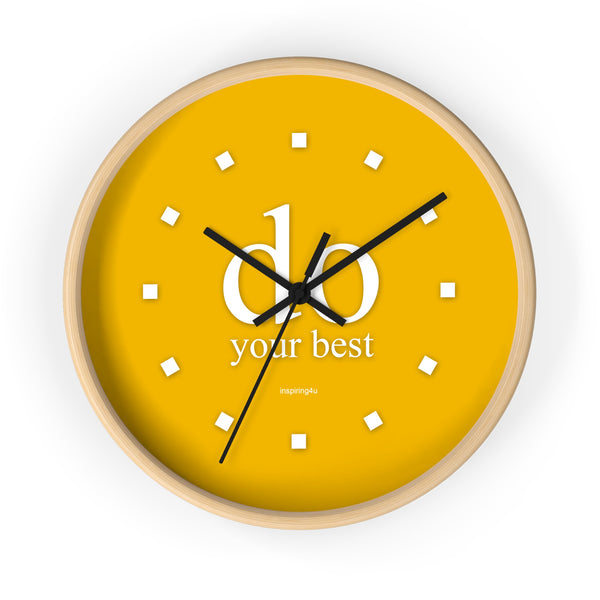 "Yellow Wall Clock ""do your best"""