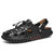 Konhill Men Adjustable Super Soft Leather Heel Sandals