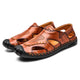 Tiosebon Men's Genuine Leather Breathable Sandals