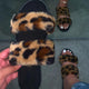 Tiosebon Women's Plush Leopard Sandals
