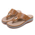KONHILL Women's Wedge Clip Toe Sandals-SIKETU