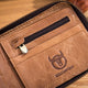 BULLCAPTAIN Genuine Leather RFID Bifold Wallets