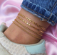 Fashion multilayer anklet