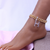 DIY custom all-match Cuban alphabet anklet