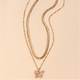 Gold plated Butterfly Necklaces