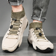Men Soft Non Slip Lace Up Driving Leather Shoes
