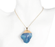 Surfer blue natural stone necklace