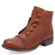 Women's leather boots with side zip