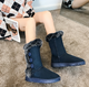 Women's retro fashion plush warm handmade snow boots