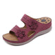 Women's Flower Decoration Wedge Sandals-SIKETU