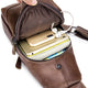 BULLCAPTAIN Genuine Leather Backpack