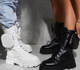 Tiosebon New High-Top Lace-Up Martin Boots