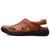 KONHILL Men's Leather Slip on Sandals