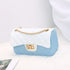 Tiosebon Diamond Contrast Color Small  Bag