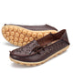 Women's Leather Loafers - Hollow